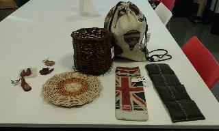 Objetos de artesanía realizados por personas con Daño Cerebral en Asociación ALENTO