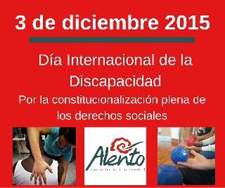 Día Internacional de la Discapacidad 2015. Imagen commemorativa