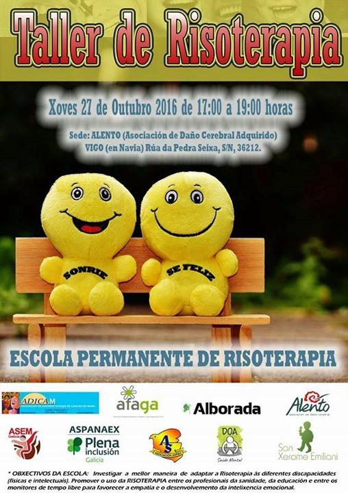 Cartel Taller de Risoterapia en ALENTO.