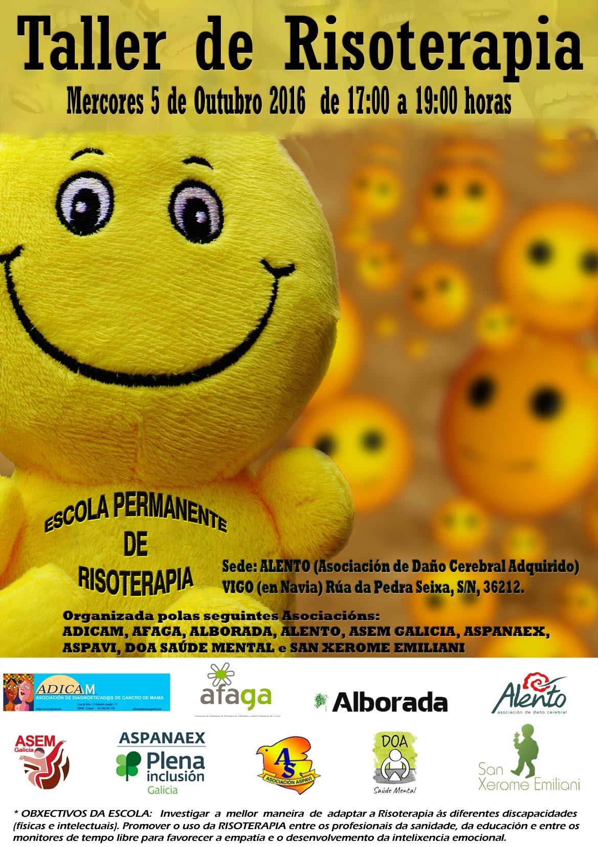 Cartel Escuela permante de risoterapia
