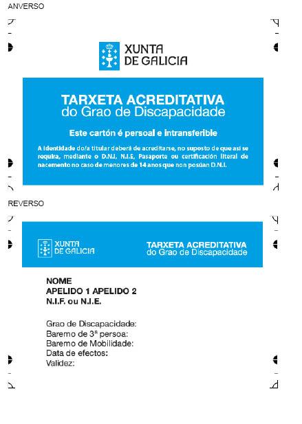 Tarjeta acreditativa del grado de discapacidad