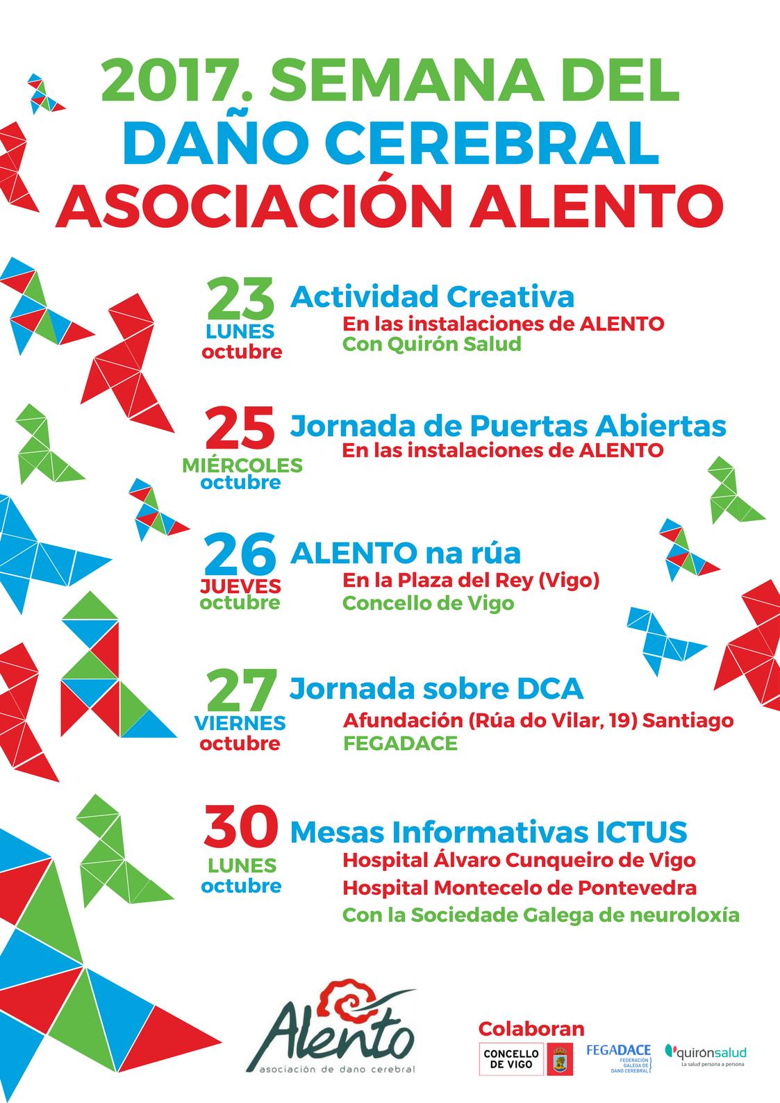 Cartel Semana del Daño Cerebral 2017 en ALENTO