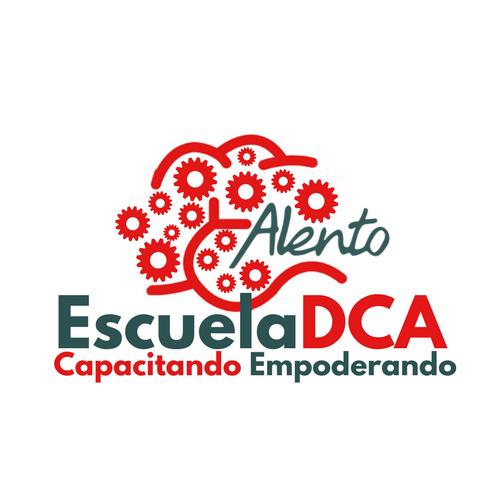 Logotipo EscuelaDCA. Formación sobre Daño Cerebral de la Asociación ALENTO
