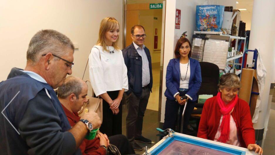Visita da Directora Xeral de Maiores e Persoas con Discapacidade a ALENTO