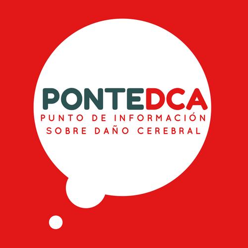 Logotipo de PonteDCA. Punto de Información sobre daño cerebral en Pontevedra de la Asociación ALENTO