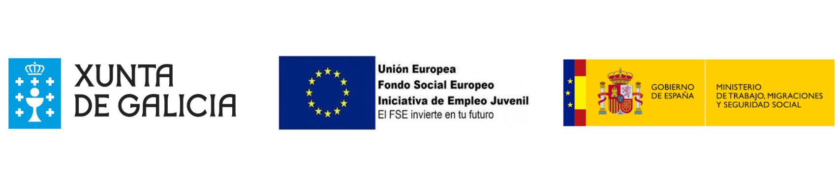 Logo Fondo social europeo Iniciativa empleo juvenil