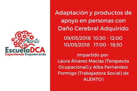 Formación en Adaptación y productos de apoyo para personas con daño cerebral (DCA). EscuelaDCA