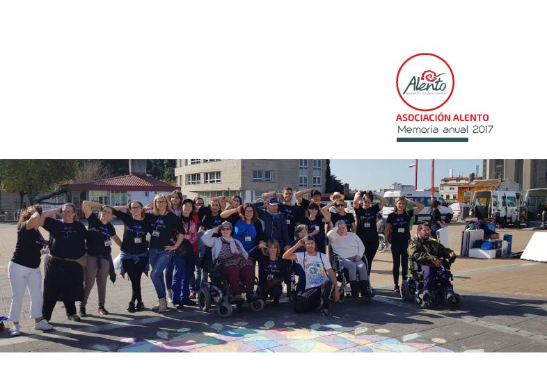 Portada memoria ALENTO, Asociación de daño cerebral de Vigo 2017