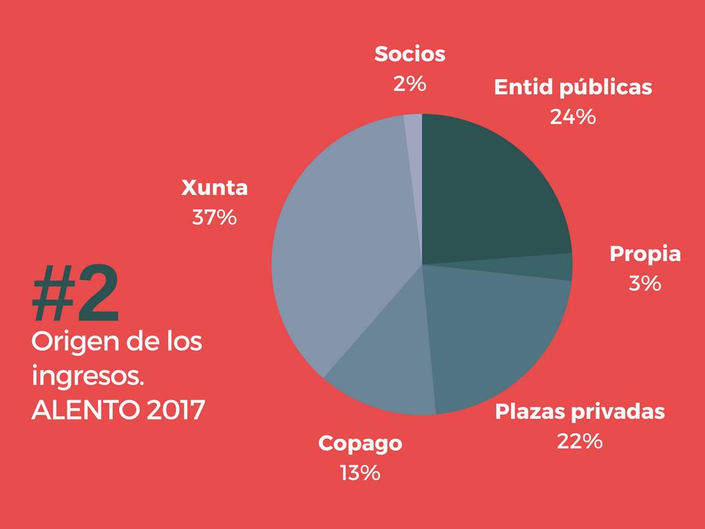 Origen de los ingresos 2017. Asociación ALENTO