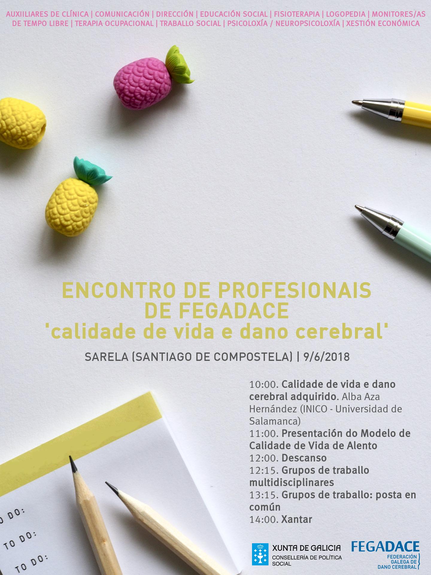 Cartel Encuentro de profesionales entidades daño cerebral 2018