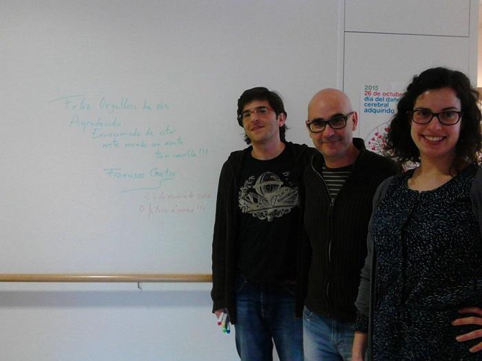 Visita de Francisco Castro a ALENTO para documentarse para la novela Iridium