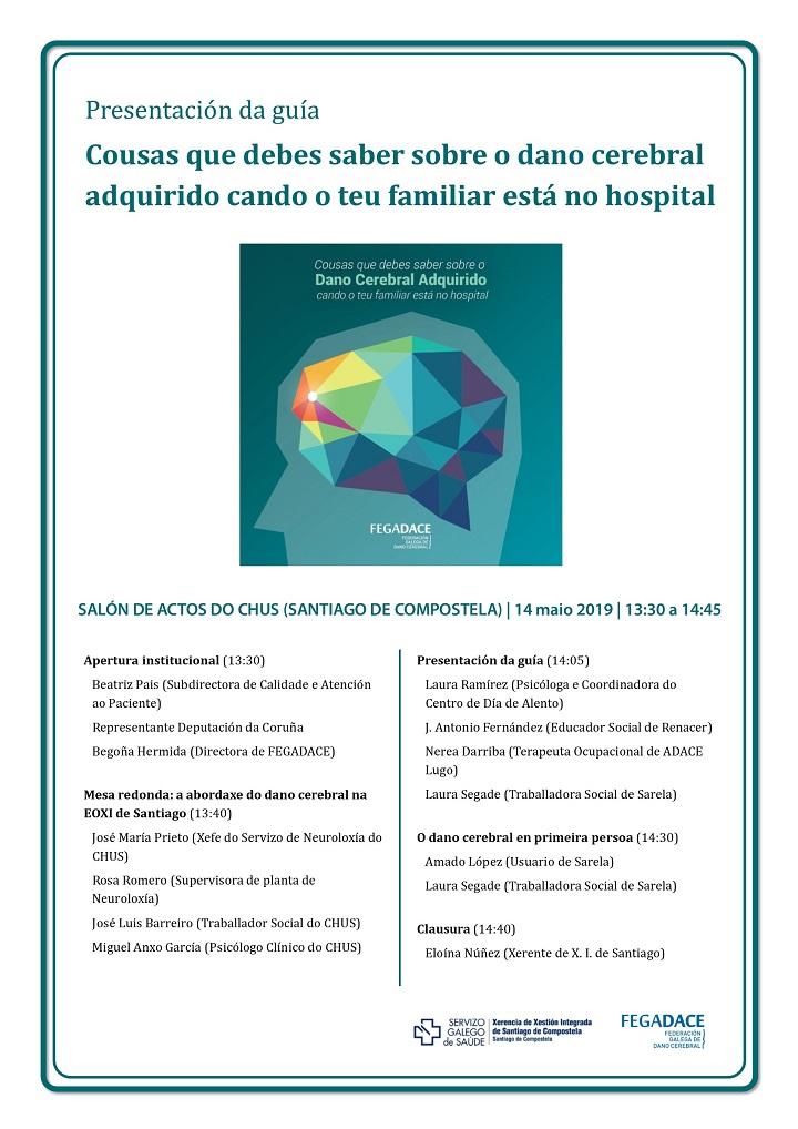 Programa acto de presentación Guía de FEGADACE Cosas que debes saber sobre el daño cerebral