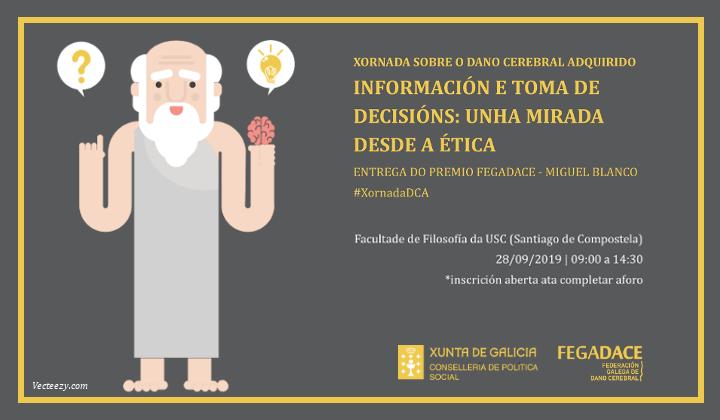 Cartel Jornada DCA organizada por FEGADACE