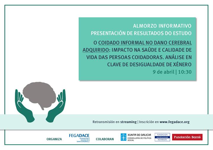 Cartel presentación resultados estudio sobre cuidados informales en daño cerebral