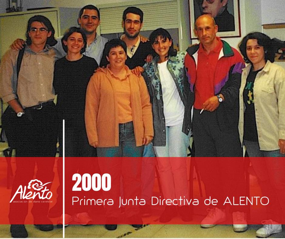 Primera Junta Directiva de la Asociación ALENTO para personas con daño cerebral en Vigo